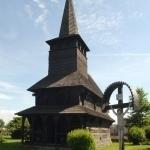 Dřevěný kostelík z Podkarpatské Rusi (přímo u penzionu)